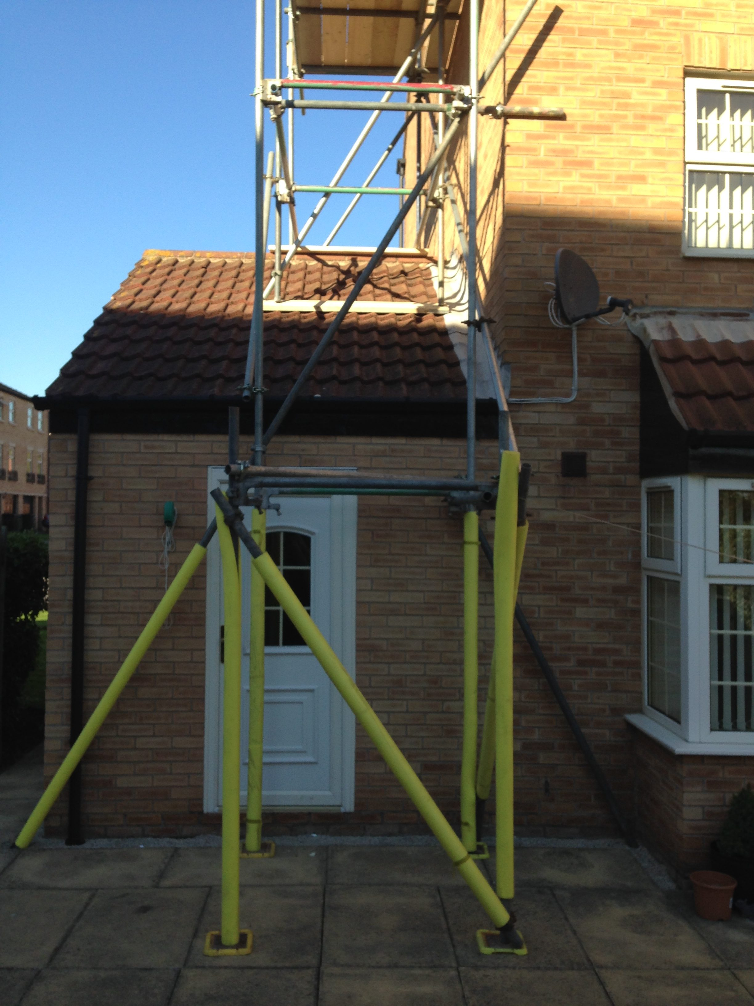 Protection to scaffold
