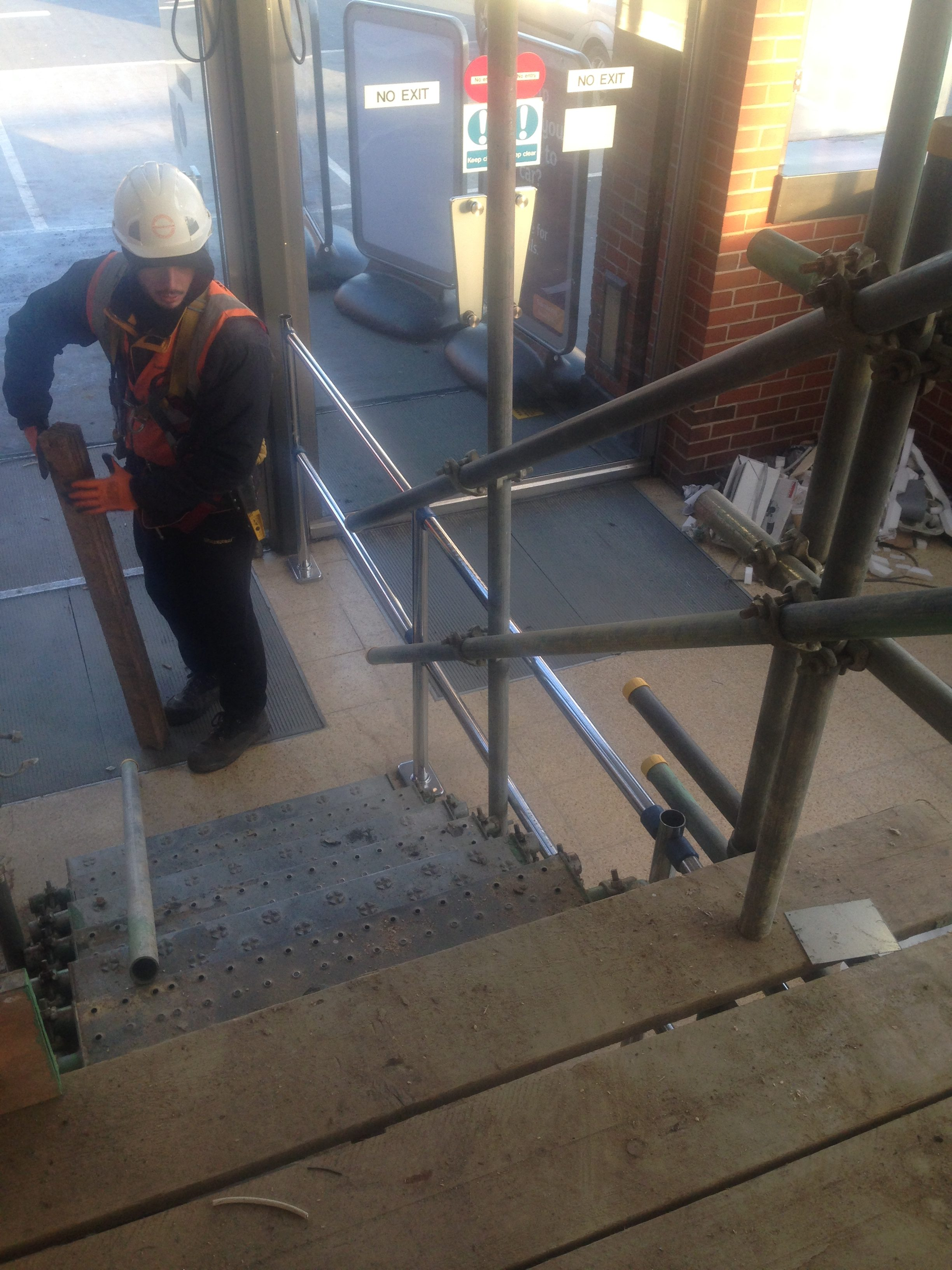 Understanding and foreseeing the working activities going to take place on the bird-cage scaffold, LSS was forward thinking on the correct access and egress allowing all trades and materials to move with ease.